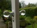 Crystal Ice Faceted Knobs with escutcheon